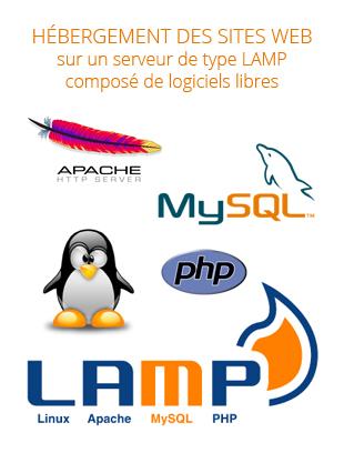 Logo Plateforme LAMP PHP MYSQL. Réalisation du site internet en Bretagne