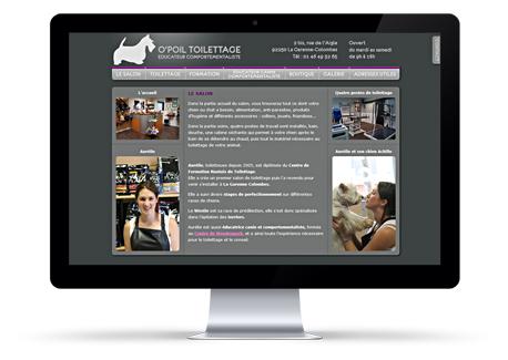 O'Poil Toilettage site web sur mesure